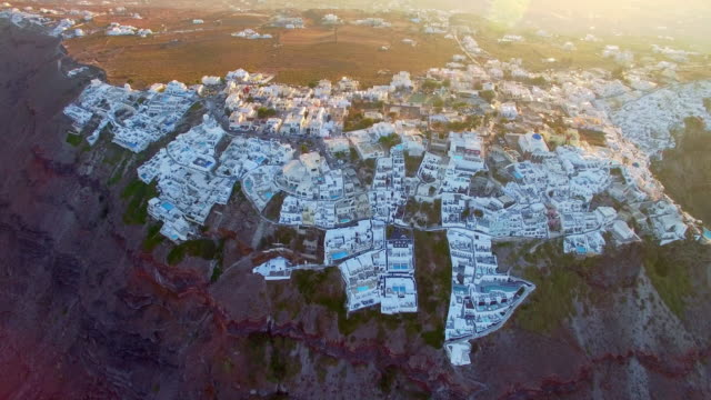 Drone Video of Imerovigli town, Santorini, Greece