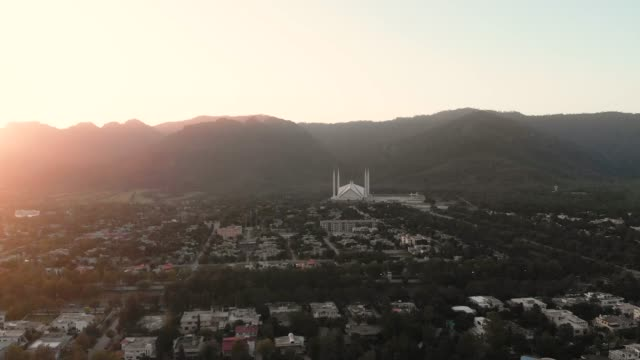 vídeos y material grabado en eventos de stock de drone video of islamabad city, pakistan - pakistán