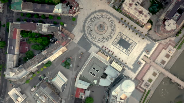 drone video of macedonia square - skopje stock videos and b-roll footage