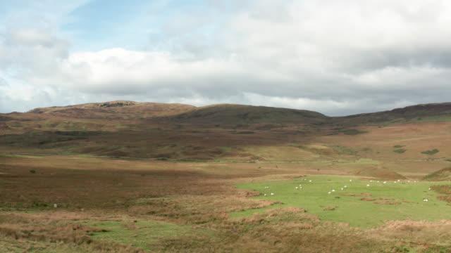 vídeos y material grabado en eventos de stock de vídeo de drones de la escocia rural - johnfscott