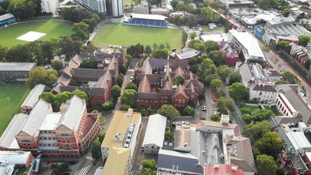 drone video of sydney university - new south wales stock videos & royalty-free footage