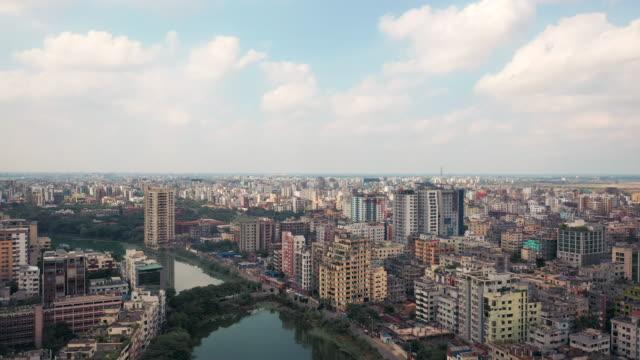 4k drone video of the cityscape of dhaka, bangladesh - bangladeshi culture stock videos & royalty-free footage