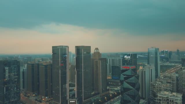drone video of the south area of chengdu city, china - snabb panorering bildbanksvideor och videomaterial från bakom kulisserna