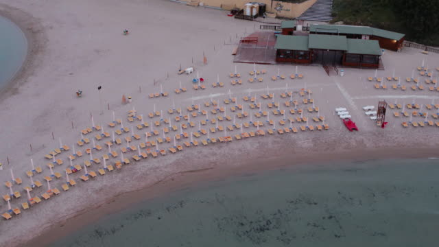 A drone view of Campo di Mare Italy on June 10 2017 during a sunset