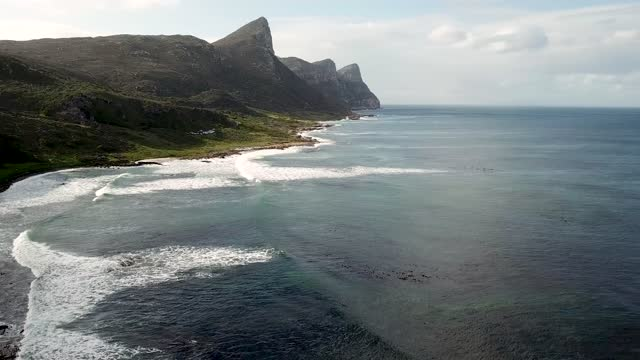 drone view of cape of good hope, south africa - remote location stock videos & royalty-free footage