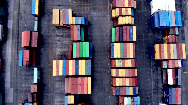 drone view of cargo containers - product variation stock videos & royalty-free footage