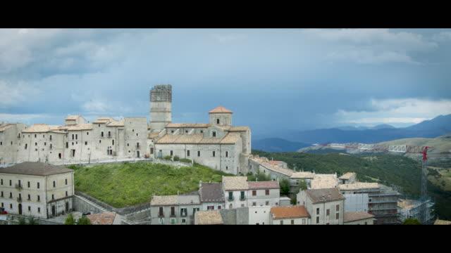 A Drone View of Castel Del Monte L'Aquila on July 2 2018