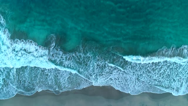 Drone view of coastline - Moving up