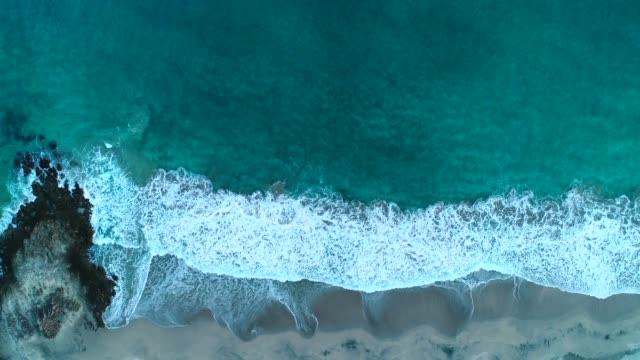 Drone view of coastline