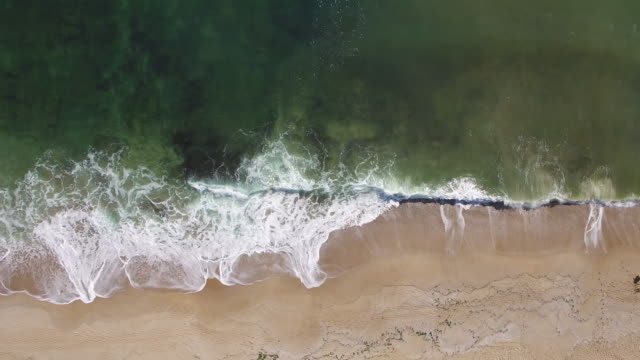 4K Drone view of coastline