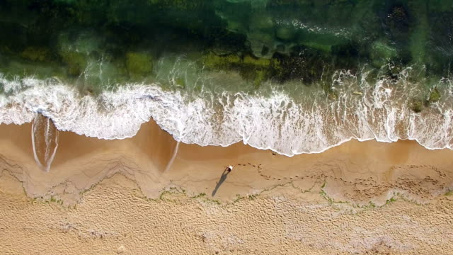 4k drone view of coastline - serenità video stock e b–roll