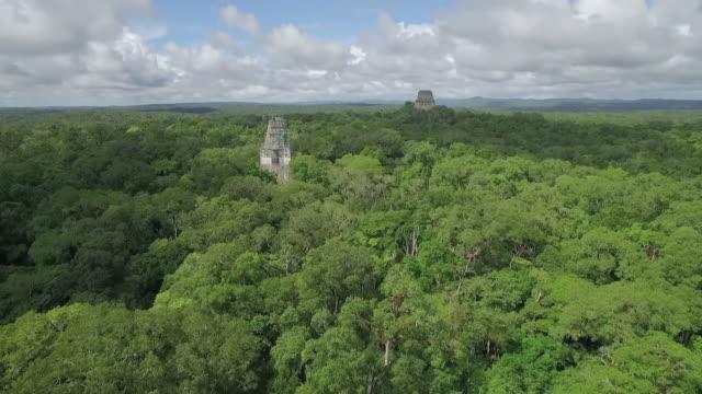 drone view of copan ruins - maya kultur stock-videos und b-roll-filmmaterial