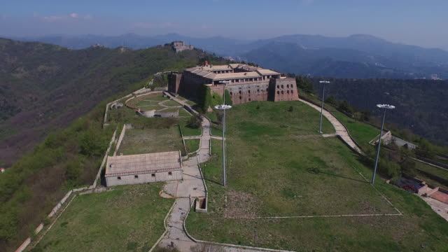 Drone view of fort Begato, Genoa, Italy
