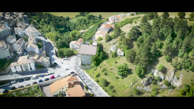 A Drone View of Gran Fondo Alte Cime d'Abruzzo in Castel Del Monte L'Aquila on July 2 2018