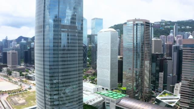 drohnenansicht von hong kong city - insel hong kong island stock-videos und b-roll-filmmaterial