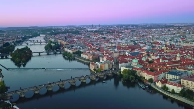 drone view of prague - prague stock videos & royalty-free footage