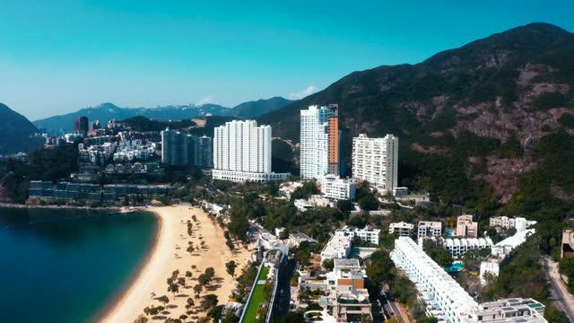 drohnenansicht der repulse bay, hongkong - insel hong kong island stock-videos und b-roll-filmmaterial