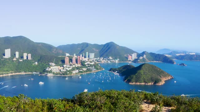 drone view of repulse bay in hong kong - east asia stock videos & royalty-free footage