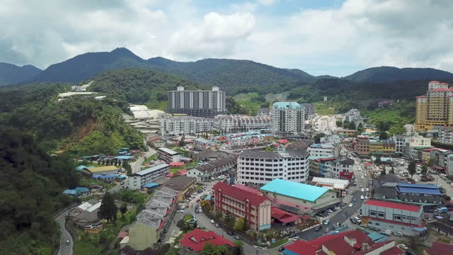 vidéos et rushes de drone view of  residential area in cameron highland city scape - kuala lumpur