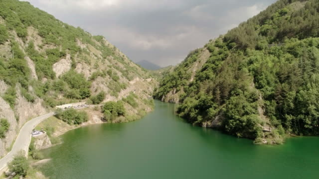 drone view of sagittarius' gorges natural reserve, in anversa degli abruzzo, italy, on june 9, 2019. - ravine stock videos & royalty-free footage