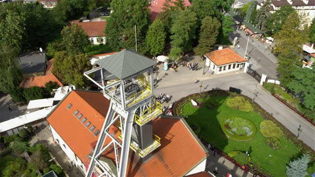 drone view of salt mine in wieliczka, poland - mining natural resources stock videos & royalty-free footage