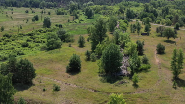 A drone view of the Koshivka Village in Chernobyl on June 17 2019 The Chernobyl disaster was a catastrophic nuclear accident that occurred on 26...