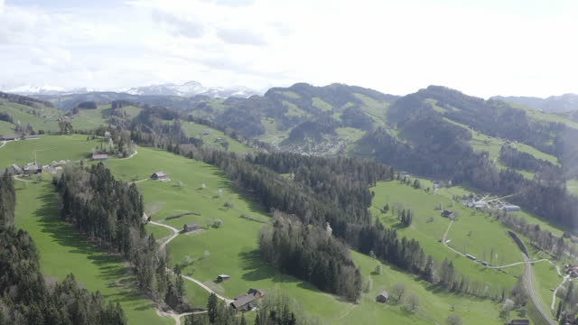 drone view of the swiss alps - rennen stock videos & royalty-free footage