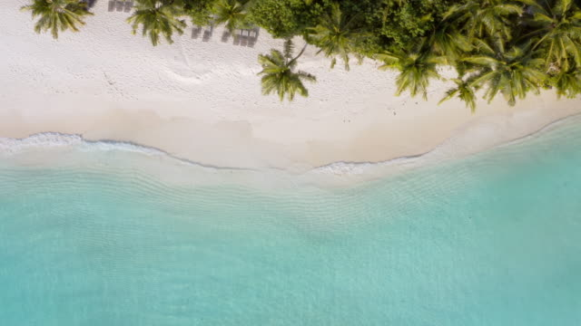 drone view of the tropical island - remote location stock videos & royalty-free footage