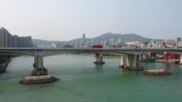 Drone view of Tsuen Wan and Tsing Yi District, Hong Kong