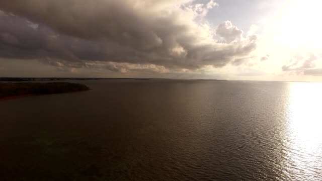 stockvideo's en b-roll-footage met a drone views kew largo before sunrise in florida - the florida keys