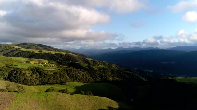 a drone views lush carmel valley california - valley stock videos & royalty-free footage