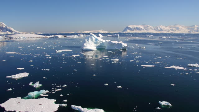 Drone Views of a Large Iceberg in Errera Channel, Antarctica