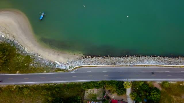 drones: an aerial road trip - coastal road stock videos & royalty-free footage