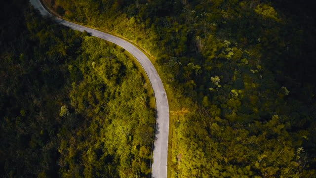 drones: an aerial road trip - mountain pass stock videos & royalty-free footage