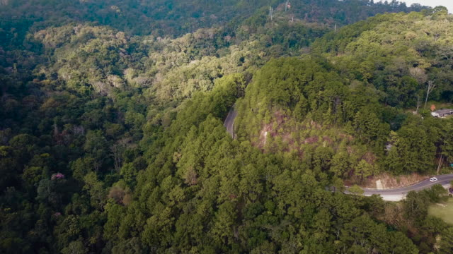 drones: an aerial road trip - mae hong son province stock videos and b-roll footage