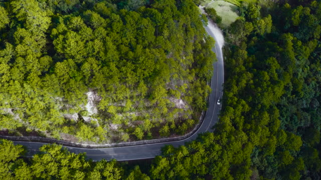 drones: an aerial road trip - mountain road stock videos & royalty-free footage