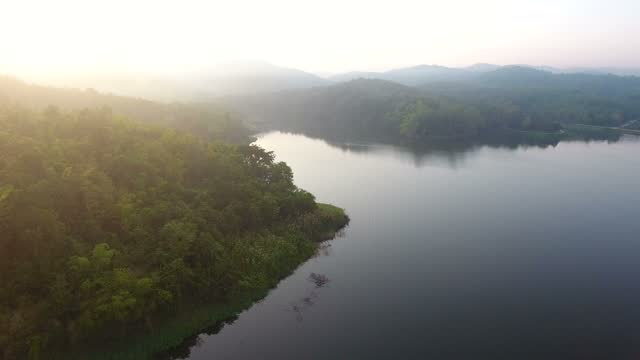 drones flying on the lake - air to air shot stock videos & royalty-free footage