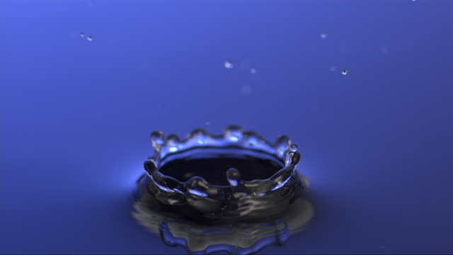 drop is splashing on a water column out of an other drop - other stock videos and b-roll footage