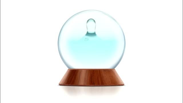 Drop of Water Splashing in the Snow Globe
