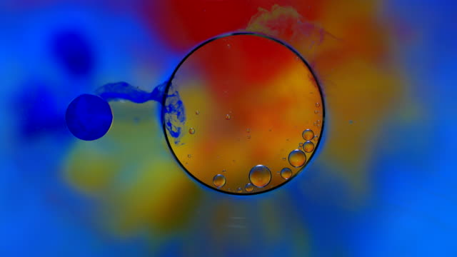 droplet colorful abstract background