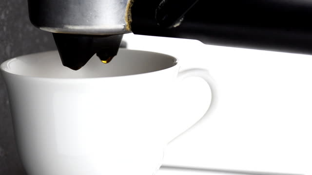 droplet of coffee in white cup - boiled stock videos and b-roll footage