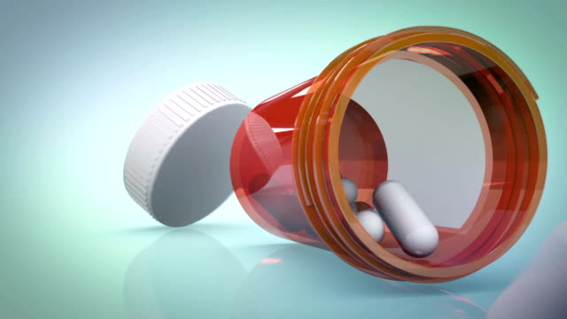 dropped pill bottle - rx stock videos & royalty-free footage