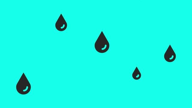 dropping - vector animate - simbolo video stock e b–roll