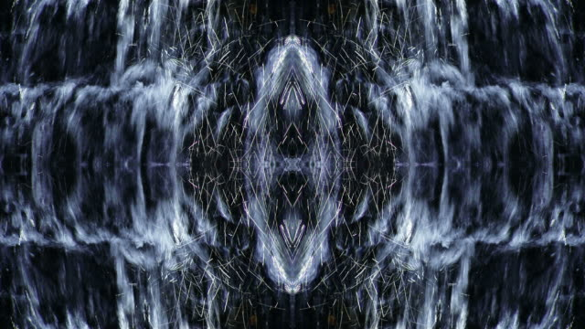 drops in waterfall move in kaleidoscopic effect. - digital enhancement stock videos & royalty-free footage
