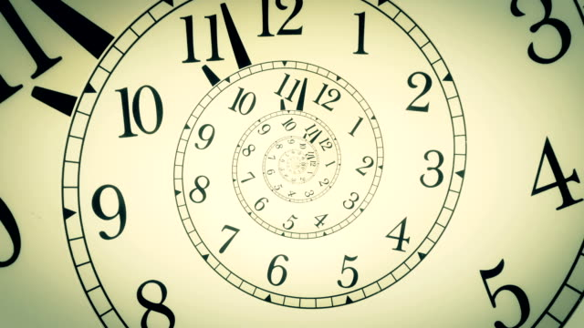droste effect on a clock - infinity stock videos & royalty-free footage
