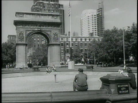 drought causes washington park square fountain to remain dry, fire hydrants to be locked and pools to stand empty. - greenwich village stock videos & royalty-free footage