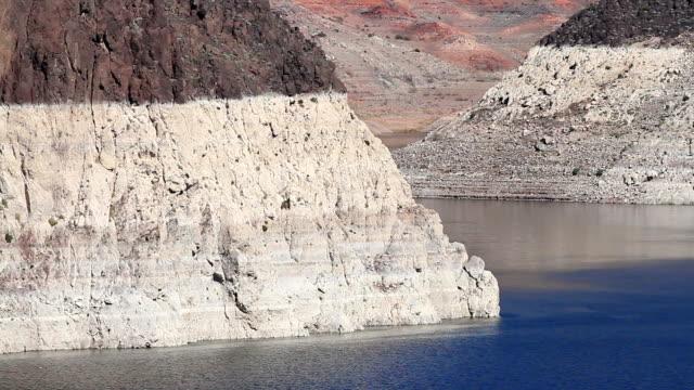 siccità saranno forniti lago mead-nevada - lake mead video stock e b–roll