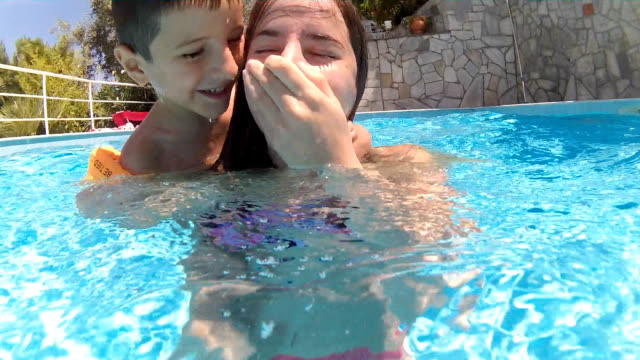 drowning game in swimming pool - drowning stock videos and b-roll footage