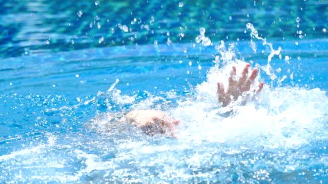 slo mo - drowning man - drowning stock videos & royalty-free footage