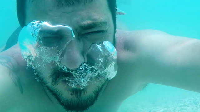 drowning man,close up,underwater shoot - drowning stock videos & royalty-free footage